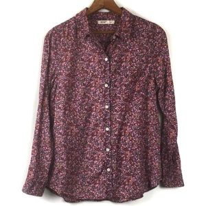 Old Navy Floral Collared Button Down Shirt